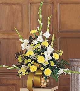 White, Yellow & Green Basket