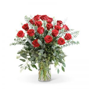 Red Roses with Eucalyptus Foliage (18)