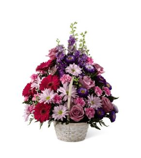 Purple Posy Basket