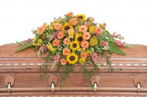 Heaven's Sunset Casket Spray
